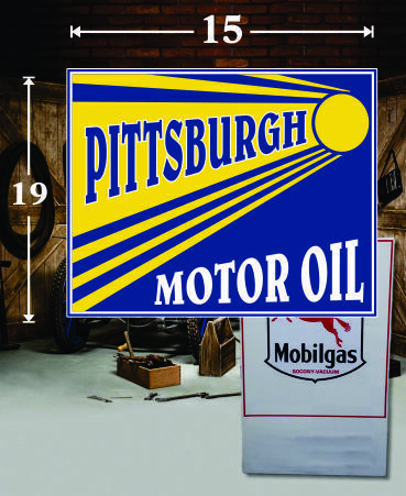 "19/"" X 19/"" Vintage Style Socony Gas Oil Vinyl Decal Lubester Oil Pump Lubster 1"