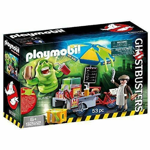 Playmobil 9222 Ghostbusters Hot Dog Stand with Slimer