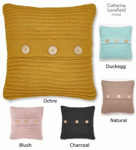 """Catherine Lansfield 18/""""x 18/"""" à grosses mailles Housse de coussin Laine Type Tricot Crochet"""