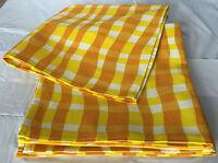 Qvc Pure Cotton Napkins 19x19 Set Of 8 Square Yellow/white Napkins Washable
