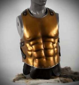 BREASTPLATE LEATHER ROMAN BREASTPLATE ARMOR CUIRASS CHEST PLATE ARMOR