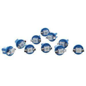 10x-AMPOULE-LED-SMD-COMPTEUR-TABLEAU-DE-BORD-B8-5D-T5-avec-support-BLEU-TUN-H5O5