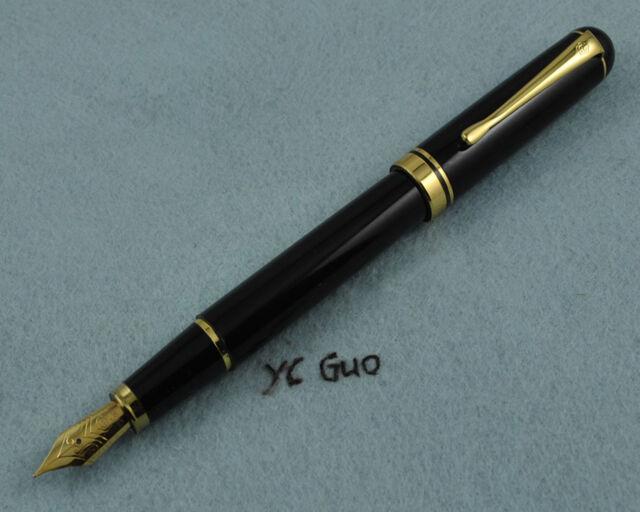 Vintage Hero 91 Fountain Pen Fine Nib Made in 1990s Jumbo Size Some Rust on Cap