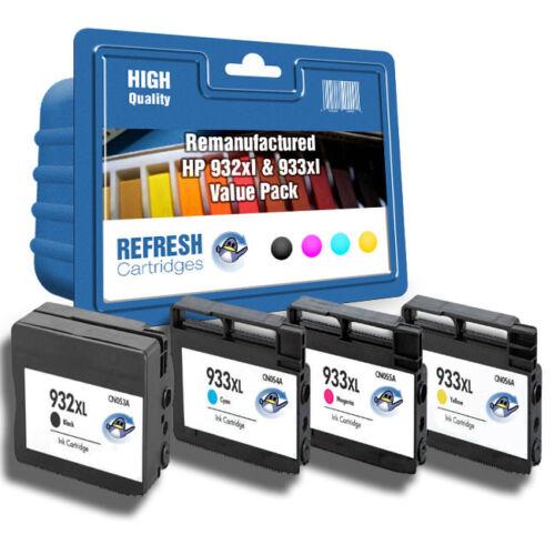 Refresh Kartuschen 4 Pack 932XL 933XL 1 Komplette Set Tinte Kompatibel mit hp