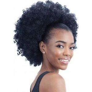 Afro-Kinky-Curly-Ponytail-Puff-Drawstring-Synthetic-Hair-Extensions-For-Women