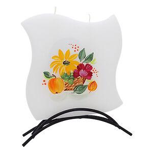 Dekorative-Designer-Flachkerze-mit-Motiv-Handarbeit-Mehrdochtkerze-Art1403