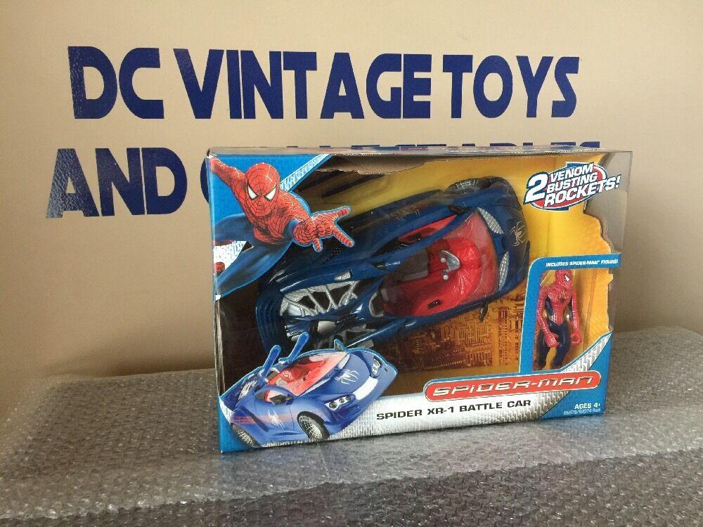 Hasbro spiderman - xr-1 kampf auto 2007 (blau) neu