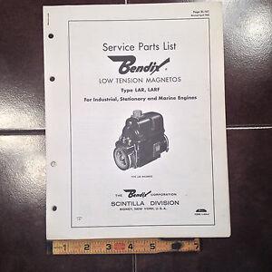 Details about Bendix LAR & LARF Magneto Parts Listing Manual