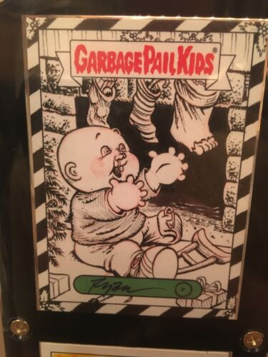 Garbage Pail Kids Sketch Card Ryan Moffett Rookie 2016 Trashy TV