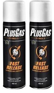 Plus-Gas-Releasing-Fluid-Aerosol-Dismantle-Lubricant-Nuts-amp-Bolts-Kit-400ml-X-2