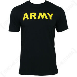 Black Army T-Shirt - Men s Top T Shirt Cotton Military Soldier All ... 2021d6409ea