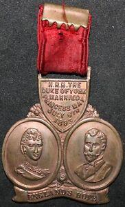 Son-Altesse-Royale-le-duc-d-039-York-marie-princesse-mai-1893-medaille-medailles-KM-Pieces