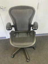 Herman Miller Aeron Office Chair Size B Black Mesh Fully Loaded