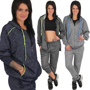 2 Pièces Femmes Survêtement Jogging à Capuche Débardeurs Pantalon Veste Et De Belle Apparence