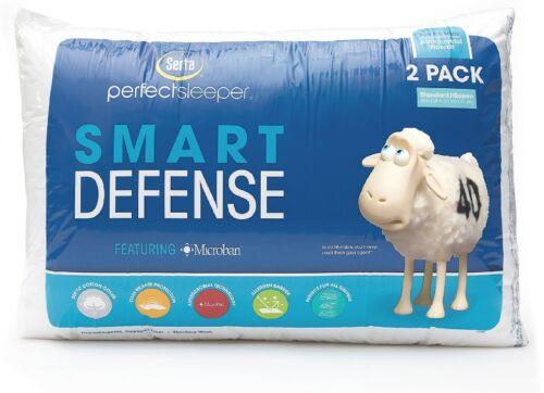 2 pack Serta Perfect Sleeper Standard//Queen Bed Pillow Hypoallergenic Cotton