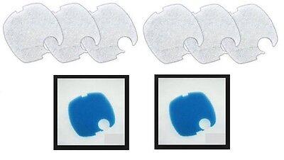 CF500, SUNSUN HW304 (6) WHITE FINE PADS & (2) COARSE BLUE PAD SET