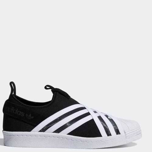 Adidas D96703 Women Superstar Slip on Casual shoes black sneakers