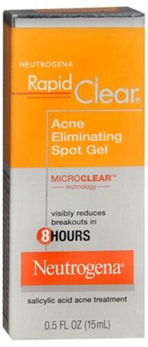 Neutrogena Rapid Clear Acne Eliminating Spot Gel 0.50 oz (Pack of 9)