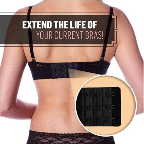 6Stk Frauen 2//3//4 Hook BH Extender Extension Strap Unterwäsche Gürtel Hinzufügen
