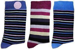 3 Pairs of Ladies JA18 Patterned Cotton Socks by Jennifer Anderton , UK Size 4-8