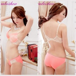 7ae794b749f01 Cup face lace bra Women Sexy Deep V Bra And Panty Set Thick Padded ...