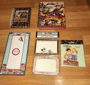 5-MARY-ENGELBREIT-MAGNET-NOTEBOOK-MAGNETIC-LIST-PAD-SELF-STICK-NOTES-LOT-VTG