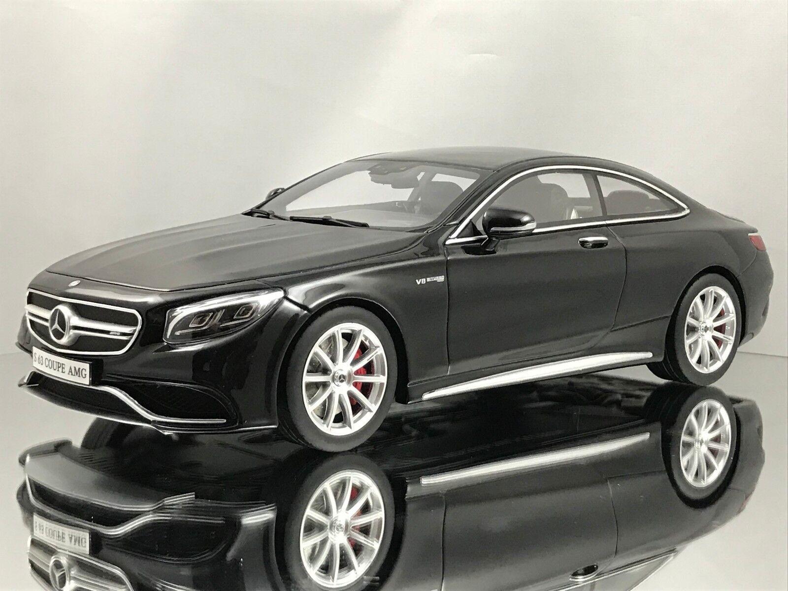 GT Spirit Mercedes Benz S63 AMG Clase S Coupé (C217) coche modelo de resina negra