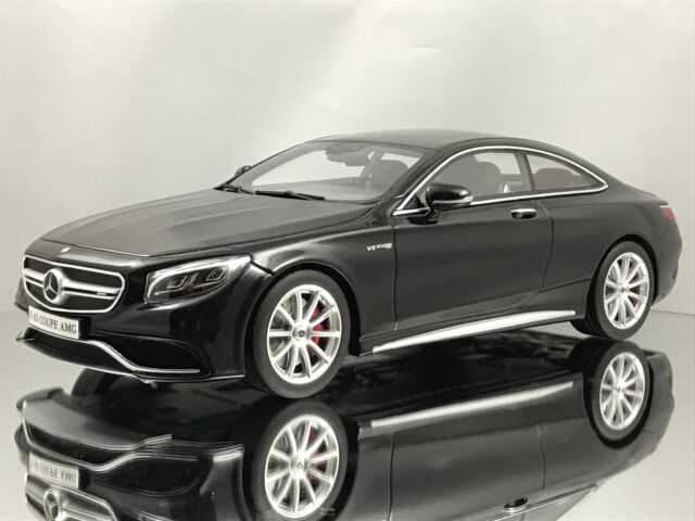 S63 Amg Coupe >> Gt Spirit Mercedes Benz S63 Amg S Class Coupe C217 Black Resin Model Car 1 18