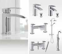 Milne Chrome Bathroom Taps, Basin Mixer Tap, Bath Filler Tap & Bath Shower Mixer