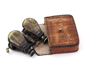 Vintage-Monocular-Opera-Binocular-Nautical-Binocular-Telescope-with-Leather-Case