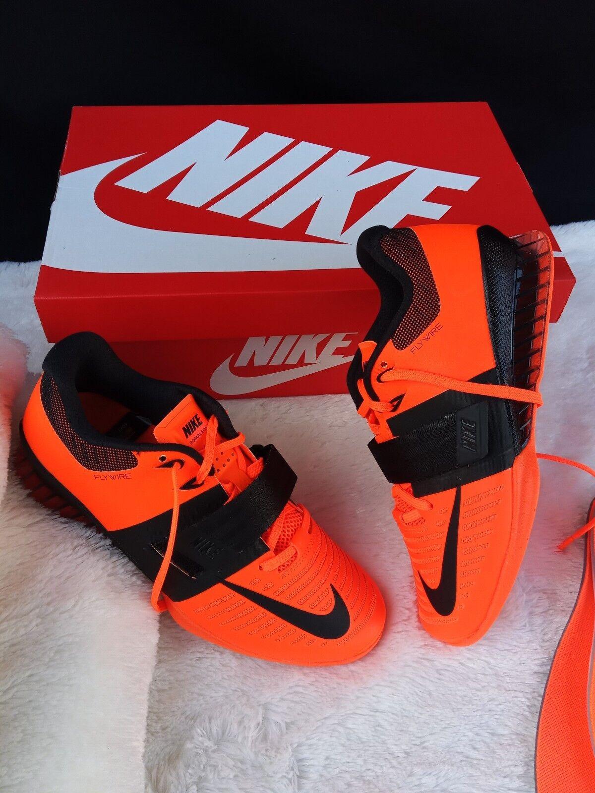 10 MENS Nike Romaleos 3 orange neon black  Training Weightlifting GYM 852933 801