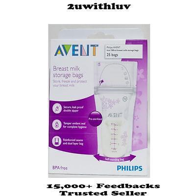 Philips Avent Breast Milk Storage Bags 180ml 25 Packs Pre