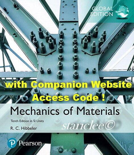 NEW 3 Days to AUS Mechanics of Materials w/ Video Code 10E Hibbeler 10th Edition