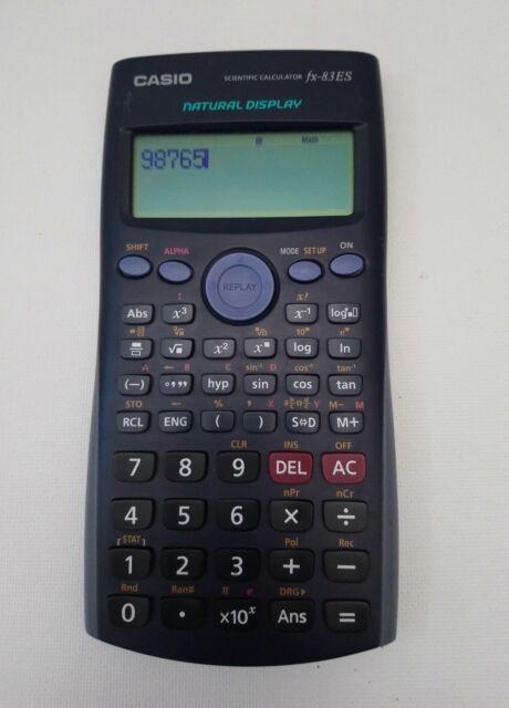 Casio fx-83ES Natural Display Scientific School Calculator Excellent