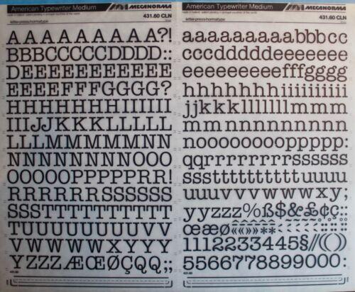 Typo Vintage #132 American Typewriter Med 15mm Mecanorma Dry Transfer Lettering