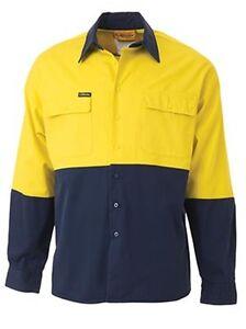 Wholesale 2 Tone Hi Vis Drill Shirt - Long Sleeve - Large BS6267 hot sale