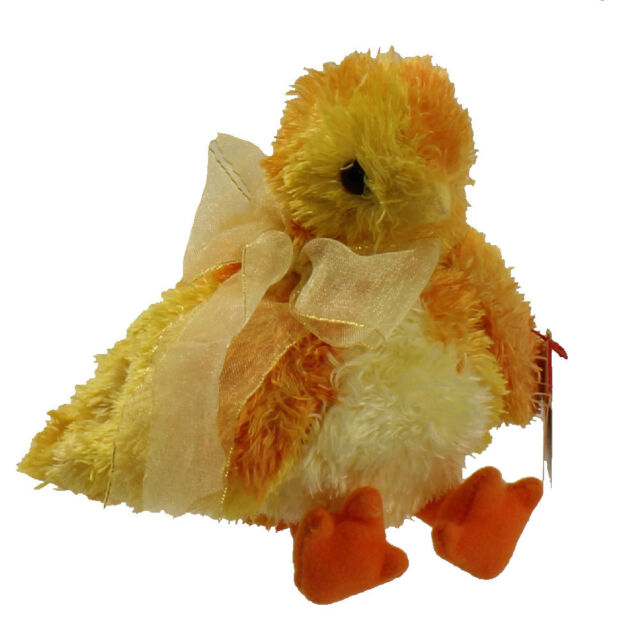 TY Beanie Baby - CHICKIE the Chick (5 inch) - MWMT s Stuffed Animal Toy 4ac2500213c
