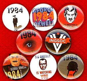 25mm Button Badge Ninteen Eighty Four George Orwell Big Brother 1984 1 Inch