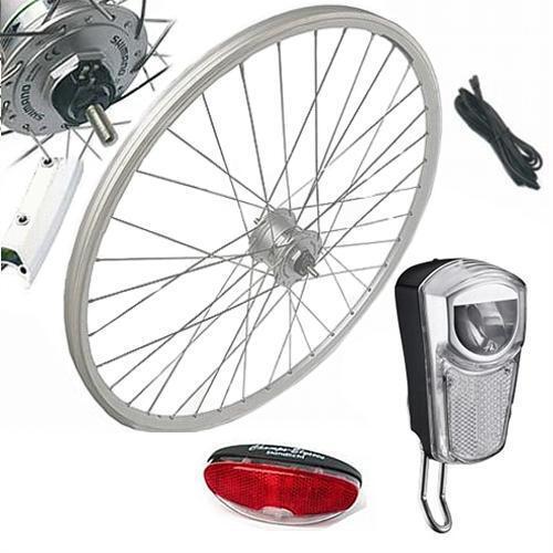 28  Vorderrad Laufrad Komplett-Set mit Nabendynamo Umrüstkit Union LED 35 Lux