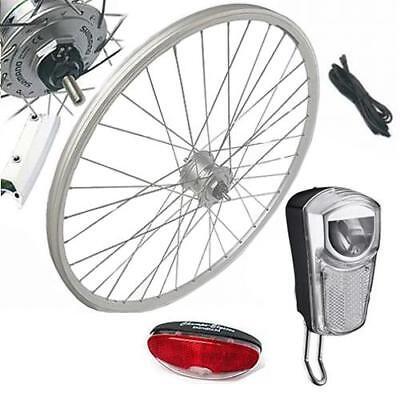 28-034-Vorderrad-Laufrad-Komplett-Set-mit-Nabendynamo-Umruestkit-Union-LED-35-Lux