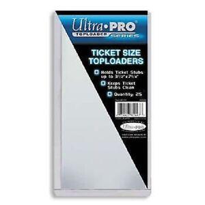 10-Ultra-Pro-Ticket-Size-Toploaders-3-5-034-x-7-25-034-Top-Load-Holders-Toploads