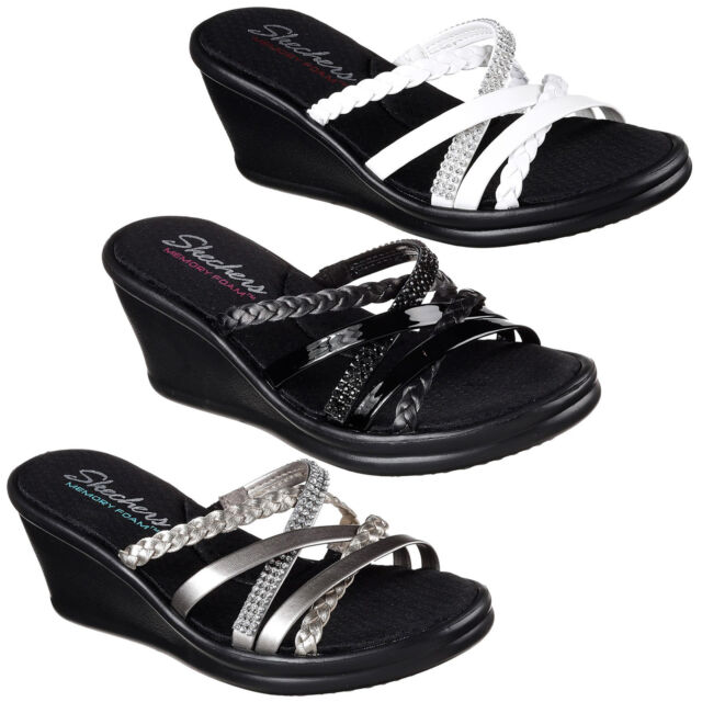 Womens Rumblers Skechers Memory Child Wedge Foam Summer Sandals Heels Wild TKcJ3Fl1