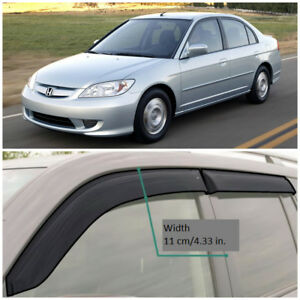 Details About He10401 Window Visors Guard Vent Wide Deflectors For Honda Civic Sd 2001 2005