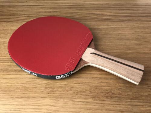Bois écrou fait à la main Cherry offensive-avec xiom Vega Pro Tennis de table chauve-souris NOUVEAU UK