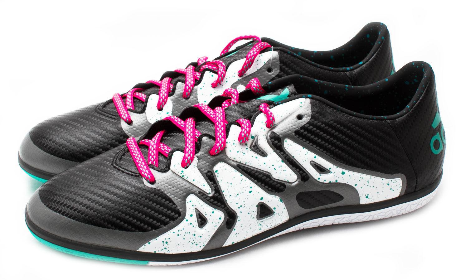 Adidas Men's X 15.3 IN Indoor Soccer Shoes S78182 Black/Shock Mint Sz 8 - 13 Casual wild