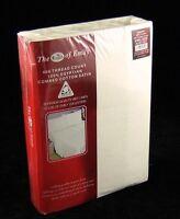 King Size Egyptian Cotton Sateen Duvet Quilt Cover Set Cream 400 Tc
