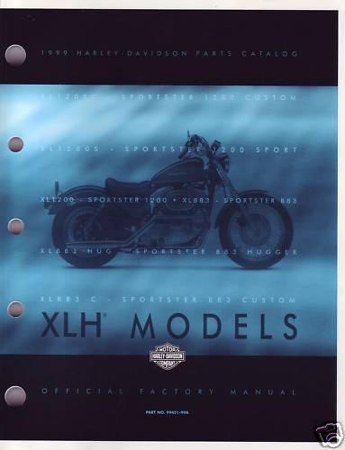 HARLEY Teilebuch XL XLH 1999 parts catalog 99451-99 OVP