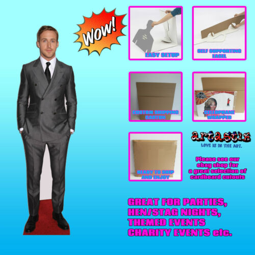 Ryan Gosling Actor Hollywood drive LIFESIZE CARDBOARD CUTOUT