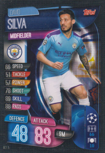 Topps Champions League 19 20 2019 2020 mcy15 David Silva