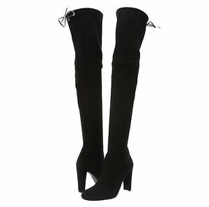 30ab7ac6f60 NEW Stuart Weitzman~ Highland ~Suede Over-the-knee Boots~ Black~ US ...